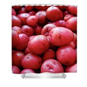 New Red Potatoes For Sale In A Market Shower Curtain