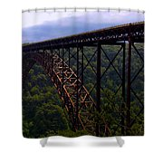 New River Bridge Shower Curtain