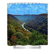 New River Gorge - Autumn Shower Curtain