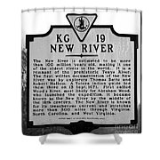 New River Historical Marker Shower Curtain