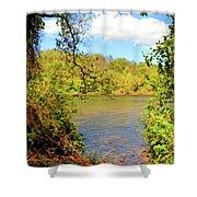 New River Views - Bisset Park - Radford Virginia Shower Curtain