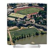 New Rochelle High School Aerial Photo Shower Curtain
