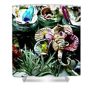 New Seahorse With Coral Imagery Shower Curtain