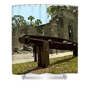 New Smyrma Sugar Mill Shower Curtain by Allan  Hughes