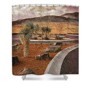 New Subdivision View Shower Curtain