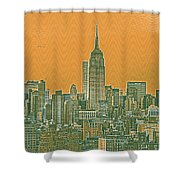 New Tork City Ny Travel Poster 4 Shower Curtain