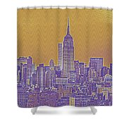 New Tork City Ny Travel Poster 5 Shower Curtain