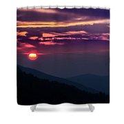 Smoky Mountain Sunset Shower Curtain