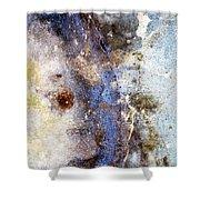 Art Blue Metal 58 Shower Curtain