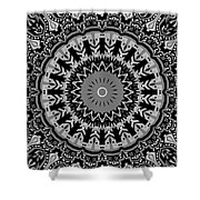 New Vision Black And White Shower Curtain