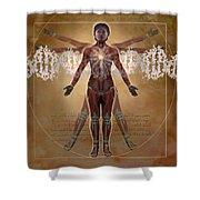 New Vitruvian Woman Shower Curtain