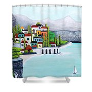 New Voyage  Shower Curtain