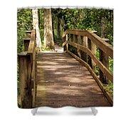 New Wood Bridge Park Trail Shower Curtain