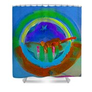 New World Spring Shower Curtain