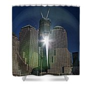 New World Trade Center Shower Curtain by David Smith