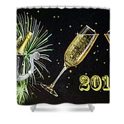 New Year 2018 Shower Curtain
