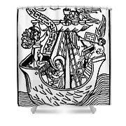 New Year Card, 1450 Shower Curtain