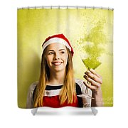 New Year Christmas Party Shower Curtain
