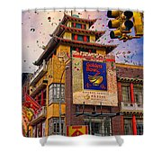 New Year In Chinatown Shower Curtain