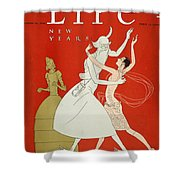 New Year: Magazine Cover Shower Curtain