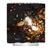 New Year Sparklers Shower Curtain