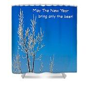 New Year Wish Shower Curtain
