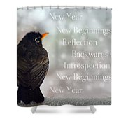 New Years Card Shower Curtain