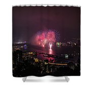 New Year's Eve Fireworks  Shower Curtain