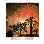 New Years Fireworks Finale San Francisco Shower Curtain