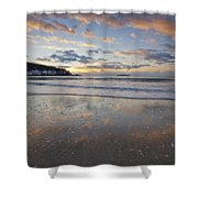 New Year's Morning On Sand Beach Shower Curtain