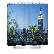 New York 230 Fith Rooftop Bar  Shower Curtain