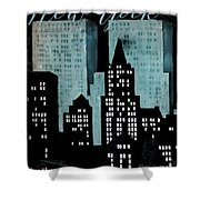 New York Art Deco Shower Curtain
