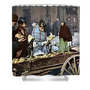 New York: Banana Cart Shower Curtain