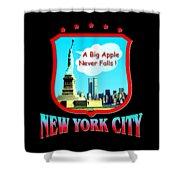 New York Big Apple Design Shower Curtain