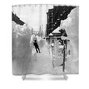New York: Blizzard Of 1888 Shower Curtain