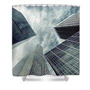 New York Blue Shower Curtain