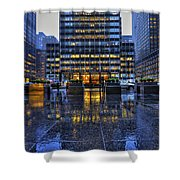 New York Blues Shower Curtain