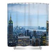 New York Blues Shower Curtain