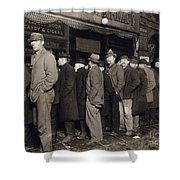 New York: Bread Line, 1907 Shower Curtain