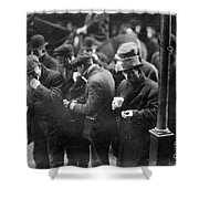 New York: Bread Line, 1915 Shower Curtain