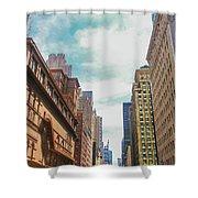 New York Buildings Shower Curtain