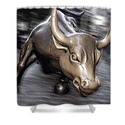 New York Bull Of Wall Street Shower Curtain