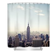 New York City - Empire State Building Panorama Shower Curtain