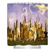 New York City 2200 - Modern Art Shower Curtain