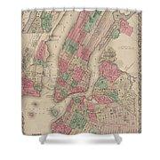 New York City, Brooklyn, Jersey City, Hoboken Shower Curtain
