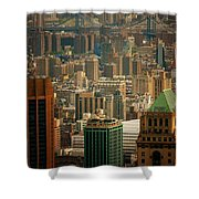 New York City Buildings And Skyline Shower Curtain