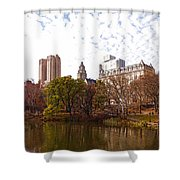 New York City Central Park Living - Impressions Of Manhattan Shower Curtain