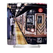 New York City Charles Street Subway Station Shower Curtain