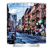 New York City Chinatown Shower Curtain