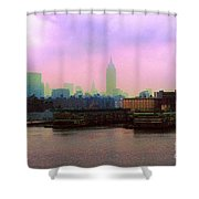 New York City From Hoboken Shower Curtain